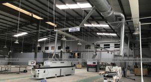 Nhà máy công ty cổ phần kiến trúc Thăng Long sử dụng dàn máy của Tân Vương